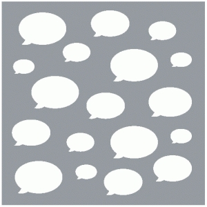 speech bubble background / template / mask