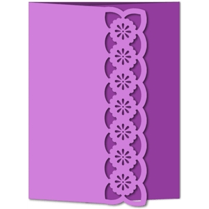 card flower lace gate fold