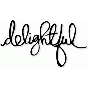 'delightful' handwriting