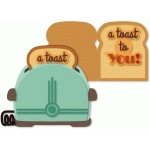 toaster with toast card insert