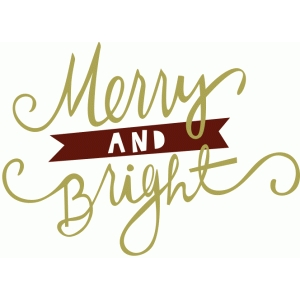 merry and bright phrase