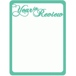 year in review journaling card