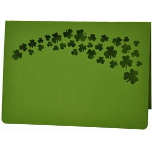 shamrock spray card