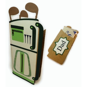 golf bag giant candy bar wrap father's day