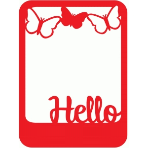 hello butterfly photo frame