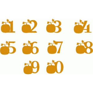 pumpkin alphabet - numbers