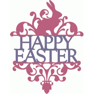 split damask - easter bunny