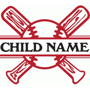 split baseball name plate