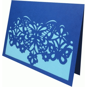 butterfly fold over card