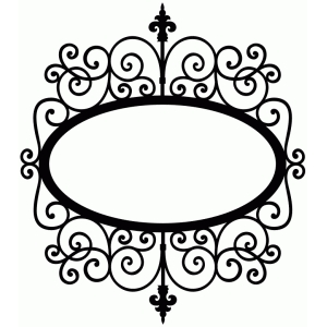 wrought iron oval sign