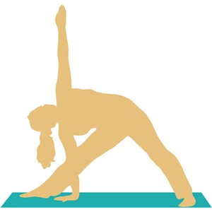 yoga big triangle pose