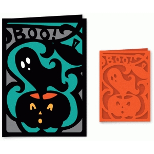 halloween boo ghost card