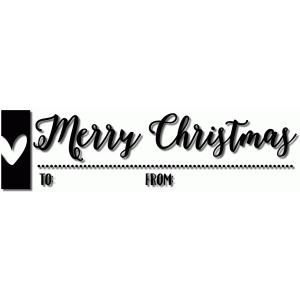merry christmas label