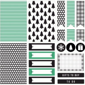 planner stickers | christmas