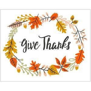 give thanks print & frame