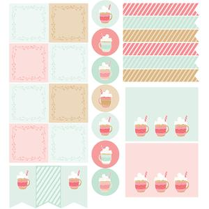 peppermint cocoa planner stickers