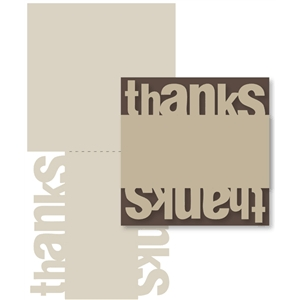 mirrored 'thank you' card