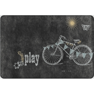 fall junque chalkboard bike