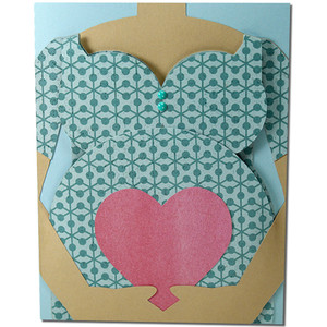 pregnancy belly card
