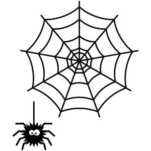 halloween spider and web
