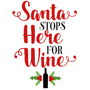 santa stops here for wine