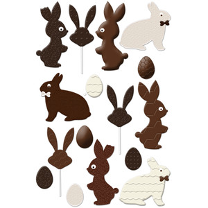 chocolate easter bunny set