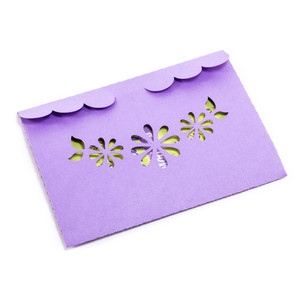 decorative floral scalloped envelope