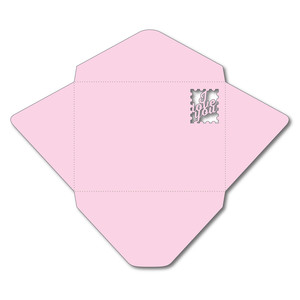 a7 envelope with love you stamp cutout