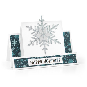 center step card snowflake