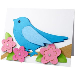 stitched bird card