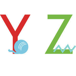 alphabet learning craft - y and z