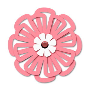 layered outline cutout flower