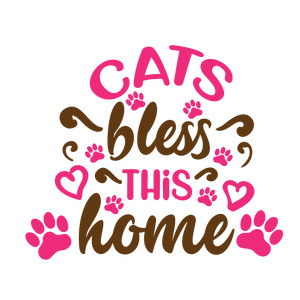 cats bless this home