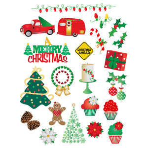 merry christmas planner stickers