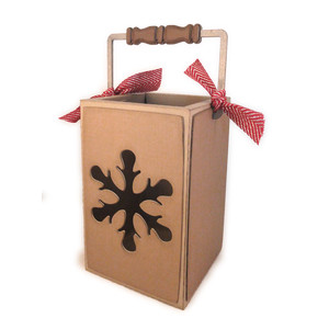 snowflake 3d luminary tote box