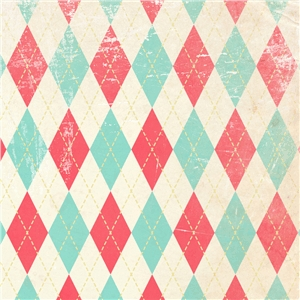 50's argyle on white pattern