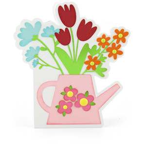 a2 watering can shaped card