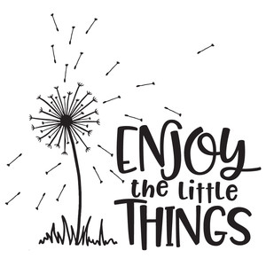 enjoy the little things dandelion quote