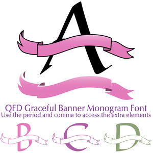 qfd graceful banner monogram font