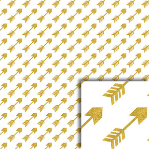 gold arrows background paper