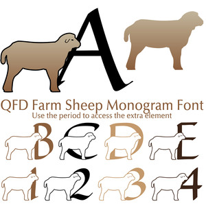 qfd sheep monogram font
