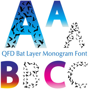 qfd bat layer monogram font