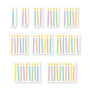 birthday candle stickers