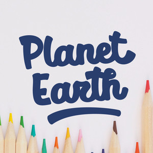 planet earth font