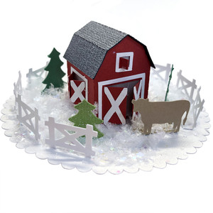 3d tiny barn snowglobe