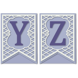 pennant lattice card letters y z
