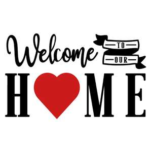 welcome to our home valentines