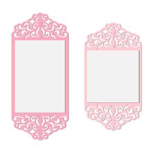 damask flat cards set