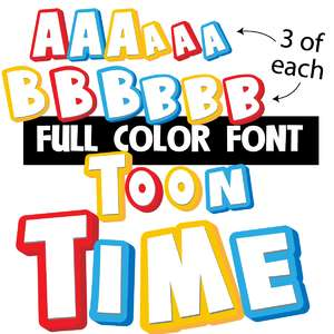 toon time color font