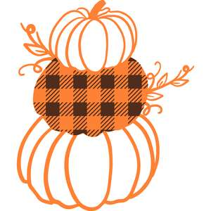 stacked buffalo check pumpkin